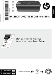 all in one j610 series english start by following the setup instructions