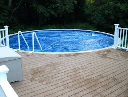 above ground pool with deck attached to house. Round Pool Decks Plans Above Ground Deck Diy With Attached To House D