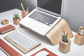 image of wooden desk accessories for men personalized