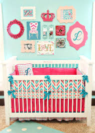 teal crib bedding things to make for your unborn room gallery wall colorful baby bedding home