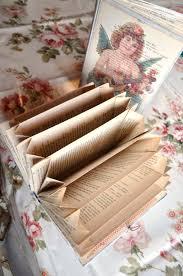 diy old book accordion organizer