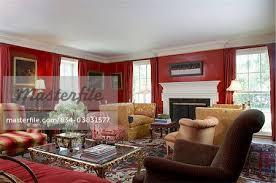 living rooms large elegantly designed room hip traditional english luxurious red walls and red curtains white