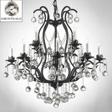 swarovskiystal trimmed chandelier wrought iron mini chandeliers s guitar s for dining room white and