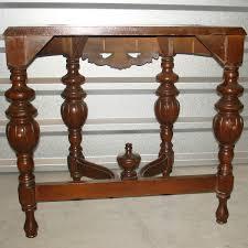 antique victorian era hand carved ornate half moon semi