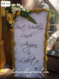 Wedding Name Name Boards Decorations On Rent Lucky Wedding Rental