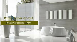 Remodeling Expenses Must Know About Bathroom Remodeling Budget Bella Vista