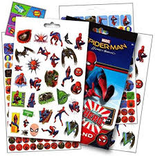 Spiderman Reward Chart Disney Studios Spiderman Homecoming Movie Stickers Over