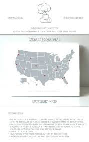 Large Us Map Poster Us Map With Pins Theflex