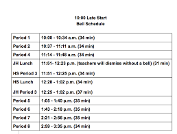 Monday To Friday Schedule Bell Schedules St Paul Public Schools