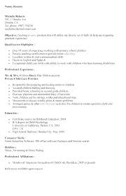 Nanny Resume Sample Babysitter Samples JsonFiddle Inspiration Nanny Resume Skills