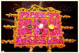 Mehndi Tray Decoration mehndi tray palki weddingDeco'r Pinterest Mehndi Trousseau 13