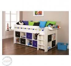 childrens beds. Stompa Spectrum 4 Midsleeper Frame And 3 X Cube Unit Childrens Beds