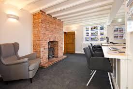 cottage office. corner cottage office interior space