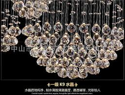 modern large crystal chandelier light fixture foyer long spiral crystal light re ceiling led lamp hotel
