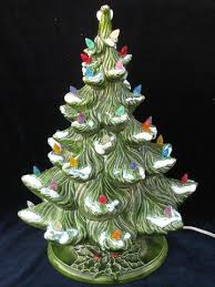 Ceramic Tabletop Christmas Tree With Lights Interesting Retro Vintage Ceramic Tabletop Christmas Tree Electric Lights
