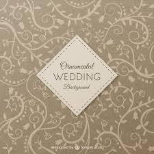 Free Wedding Background Ornamental Wedding Background Vector Free Download