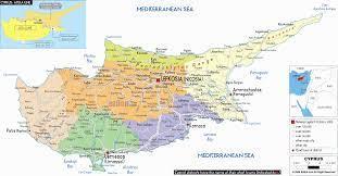 Ocupat în cea mai mare parte de populația turcă, ciprul de nord cuprinde aproximativ 38% din insulă și conține unele dintre cele mai frumoase peisaje din țară, printre cele mai bune plaje, monumente culturale importante și orașe încărcate cu. Harta Cipru Harta Turistica Larnaka Cipru Portal Turism 35 10 0 Nord 33 22 0 Est Chantelle Cane