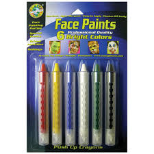 face paint push up crayons bright