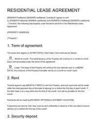 Template Lease Real Estate Contract Templates 15 Free Samples Edit And