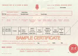 Uk Birth Marriage And Death Certificates