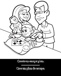 Small Picture Family safety coloring pages and activity sheets Includes water