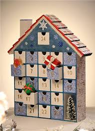 2016 diy wooden house drawer advent calendar with gift box and tree snowflack