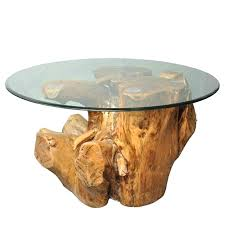 natural tree stump coffee table base