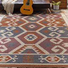 kilim rug with guitar on it