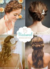 down wedding hair. 15 Natural Wedding Hair Styles for the bride looking for a down to