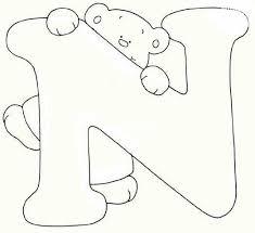 Alfabeto Orsetto Immagine Da Colorare N 2544 Cartoni Da Colorare