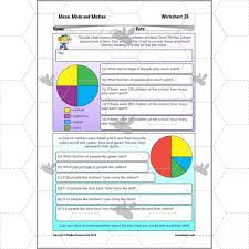 Edexcel Gcse Mathematics Linear 1ma0 Pie Charts Answers Mean Median Mode Questions