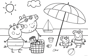 Kleurplaat Peppa Pig Verjaardag Olivinumcom Fictional