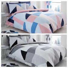 details about new sydney blue grey duvet quilt cover bedding set pillow cases single double kg