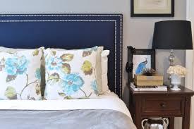 blue upholstered headboard. Wonderful Blue Upholstered Headboard King Queen Full Twin Size Oxford Shape Navy Blue  Linen Fabric Double Row In Headboard W
