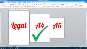 Paper Size Chart 11x17 How To Make Different Page Sizes In Microsoft Word