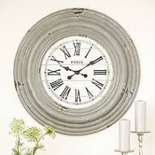 large french style wall clock dove grey cream round distressed shabby chic shabby french style distressed