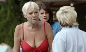 Wendy Richards speeds up the action on Benidorm with racy bikini... and a  mobility scooter   Daily Mail Online