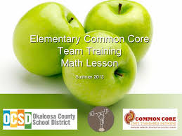 1 elementary common core team training math lesson summer 2016