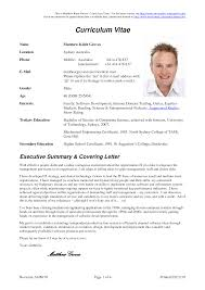 Gallery Of Curriculum Vitae Sample Doc