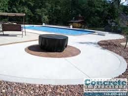 stamped concrete patio with fire pit cost. Concrete Patio Fire Pit Impressions Pits Patios Decks Stamped With Cost