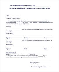 Letter Of Employment Template Verification For Mortgage