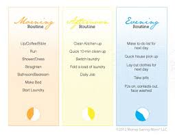 Free Customizable Morning Afternoon And Evening Routine