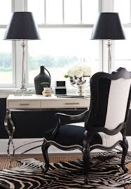 black and white office. Black \u0026 White Home Office.love The 2 Tone Upholstery. Study Room Desk Furniture, Office, Cabinets, Lighting, Work At And Office