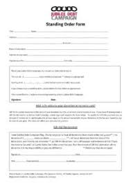 Standing Order Form With Gad Jubilee Debt Campaign Uk