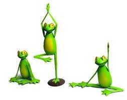 3 yoga frog home decor garden statue