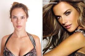 alessandra ambrosio before after makeup