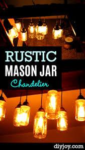 rustic mason jar chandelier diy joy rustic mason jar chandellier p