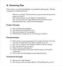 Sample Business Plans Templates Sample Marketing Business Plan Template 12 Free Documents In Pdf
