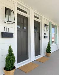 Black Front Porch Lights A Front Porch Makeover At The Duplex Young House Love