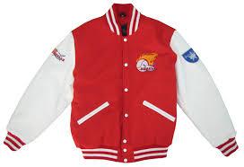 benson jacket wool leather sleeves baseball american football